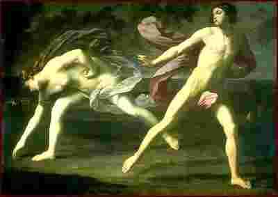 """""""Hipómenes y Atalanta"""" de Guido Reni (Escuela Italiana). Museo del Prado."""